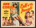 "Movie Posters:Adventure, Call of the Jungle (Monogram, 1944). Half Sheet (22"" X 28"").Adventure.. ..."