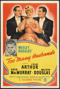 """Too Many Husbands (Columbia, 1940). One Sheet (27"""" X 41"""") Style A. Comedy"""