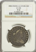 Early Half Dollars: , 1806 50C Knobbed 6, Large Stars F12 NGC. O-105. PCGS Population(6/73). Numismedia Wsl. Price for NGC/...