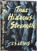 Books:Signed Editions, C. S. Lewis. That Hideous Strength. London: The Bodley Head,1945. . First edition. Signed by C. S. Lewis on the...
