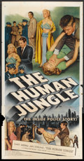 """Movie Posters:Crime, The Human Jungle (Allied Artists, 1954). Three Sheet (41"""" X 81"""")and Lobby Card (11"""" X 14""""). Crime.. ... (Total: 2 Items)"""