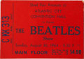 Music Memorabilia:Tickets, The Beatles Atlantic City 1964 Ticket Stub....