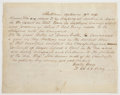 """Autographs:Military Figures, Braxton Bragg Autograph Letter Signed. One page, 8"""" x 6.25"""", September 29, 1849, commending Sergeant Love with references to..."""