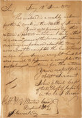 "Autographs:Military Figures, John E. Wool Autograph Document Twice Signed. One page, addressed and franked on the verso, 7"" x 9.75"", June 14, 1810, Troy ..."