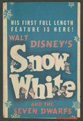 """Movie Posters:Animated, Snow White and the Seven Dwarfs (RKO, 1937). Herald (9"""" X 12""""Folded Out). Animated.. ..."""