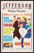"""Movie Posters:Comedy, High Time (20th Century Fox, 1960). Window Card (14"""" X 22""""). Comedy.. ..."""
