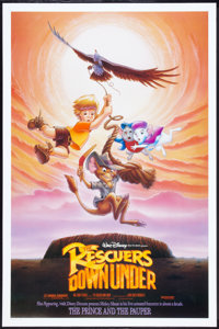 "The Rescuers Down Under (Buena Vista, 1990). One Sheet (27"" X 41"") DS . Animated"