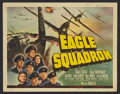 """Movie Posters:War, Eagle Squadron (Universal, 1942). Lobby Card Set of 8 (11"""" X 14"""").War.. ... (Total: 8 Items)"""