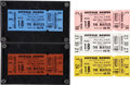 Music Memorabilia:Tickets, Beatles Suffolk Downs Unused Tickets - Set of 5.... (Total: 5Items)