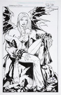 Original Comic Art:Splash Pages, Ron Adrian Darkchylde Pin-Up Illustration Original Art(undated)....