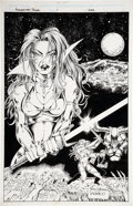 Original Comic Art:Covers, John Stinsman and Marlo Alquiza Avengelyne: Power #1Alternate Cover Original Art (Maximum Press, 1995)....