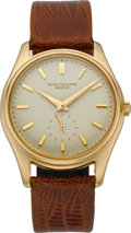 Timepieces:Wristwatch, Patek Philippe Rare Ref. 2526 Gent's Gold Automatic Wristwatch WithEnamel Dial, circa 1958. ...