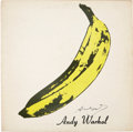 Music Memorabilia:Autographs and Signed Items, Andy Warhol Signed Velvet Underground & Nico AlbumCover....
