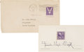 Movie/TV Memorabilia:Autographs and Signed Items, Frank Lloyd Wright Signed First Day Cover.... (Total: 2 )
