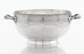 Silver Holloware, American:Bowls, AN AMERICAN SILVER TWO HANDLED BOWL. Gorham Manufacturing Co.,Providence, Rhode Island, 1873. Marks: (lion-anchor-G),STE...