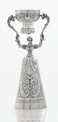 Silver Holloware, Continental:Holloware, A GERMAN SILVER WAGER CUP. Maker unidentified, Nuremberg, Germany,19th century. Marks: N, 13, (unidentified). 6-1/4 x 2...