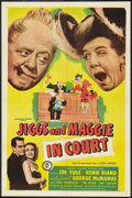 "Movie Posters:Comedy, Jiggs and Maggie in Court (Monogram, 1948). One Sheet (27"" X 41"") and Lobby Card Set of 8 (11"" X 14""). Comedy.. ... (Total: 9 Items)"
