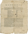 Autographs:Military Figures, [Charles Thomson] Two 1779 Revolutionary War Broadsides publicizing resolutions passed by the Second Continental Congres... (Total: 2 Items)