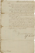 Autographs:Non-American, French and Indian War: Lord Jeffery Amherst and William Byrd IIIDocuments Signed. The Amherst letter is four integral pages...