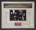 Music Memorabilia:Autographs and Signed Items, Beatles Related - Pete Best Signed Drum Sticks Display....