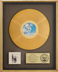 Music Memorabilia:Awards, Fleetwood Mac Rumours RIAA Gold Album Award....