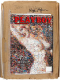 Movie/TV Memorabilia:Memorabilia, Playboy Magazine Proof Signed by Hugh Hefner (Playboy,1998)....
