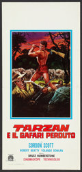 "Movie Posters:Adventure, Tarzan and the Lost Safari (MGM, 1957). Italian Locandina (13"" X27""). Adventure.. ..."