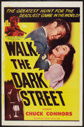 """Movie Posters:Crime, Walk the Dark Street (Dominant Pictures, 1956). One Sheet (27"""" X41""""). Crime.. ..."""