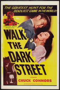 "Walk the Dark Street (Dominant Pictures, 1956). One Sheet (27"" X 41""). Crime"