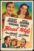 """Movie Posters:Comedy, Hired Wife (Universal, 1940). One Sheet (27"""" X 41"""") Style A. Comedy.. ..."""