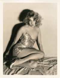"""Edwina Booth by Clarence Sinclair Bull (MGM, 1931). Portrait Still (10.5"""" X 13.5"""")"""