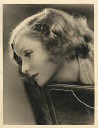 "Greta Garbo by Clarence Sinclair Bull (MGM, 1933). Portrait (10"" X 13"")"