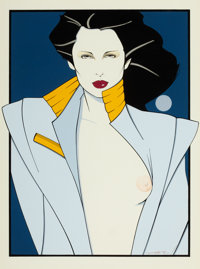 PATRICK NAGEL (American, 1945-1984) Playboy illustration Mixed-media on board 16 x 11.5 in. Si