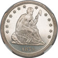 Seated Quarters, 1879 25C MS66 Prooflike NGC. CAC....