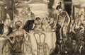 Paintings, HENRY PATRICK RALEIGH (American, 1880-1944). He Was the Exotic Dancer's Most Ardent Admirer, Saturday Evening Post illustr...