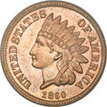 Proof Indian Cents, 1860 1C PR65 PCGS. CAC....