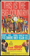 """Movie Posters:Western, The Big Country (United Artists, 1958). Three Sheet (41"""" X 81""""). Western.. ..."""