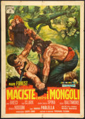 """Movie Posters:Action, Hercules Against the Mongols (Jonia Film, 1963). Italian 2 - Folio (39"""" X 55"""") and Stills (6) (9.5"""" X 11.5""""). Action.. ... (Total: 7 Items)"""