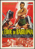 "Movie Posters:Adventure, Hero of Babylon (PEA, 1963). Italian 2 - Folio (39"" X 55""). Adventure.. ..."
