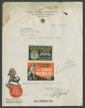 "Movie Posters:Science Fiction, The Lost World (First National, 1925). Letterhead (8"" X 11"").Science Fiction.. ..."