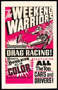 """The Weekend Warriors (Champion, 1966). One Sheet (28"""" X 44"""")"""