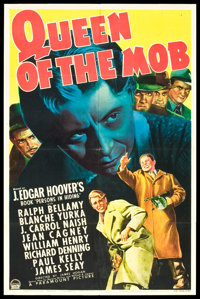 "Queen of the Mob (Paramount, 1940). One Sheet (27"" X 41"")"