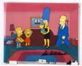 Movie/TV Memorabilia:Original Art, The Simpsons Production Cel Signed by Dan Castellanetta....