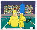 Movie/TV Memorabilia:Autographs and Signed Items, The Simpsons Original Production Cel Signed by DanCastellenetta....