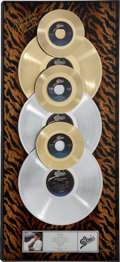 Music Memorabilia:Awards, Michael Jackson Thriller In-House Gold and Platinum Album Award Presented to Fred Astaire....