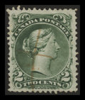 Stamps, 2c Green, Watermarked (Bothwell) Paper (24a),...