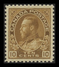 Stamps, 10c Yellow Brown (118b),...