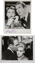 Movie/TV Memorabilia:Autographs and Signed Items, Jimmy Stewart with Doris Day and Kim Novak Signed Photos....(Total: 2 )