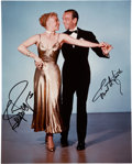 Movie/TV Memorabilia:Autographs and Signed Items, Fred Astaire and Ginger Rogers Signed Photo....