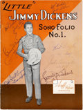 Music Memorabilia:Autographs and Signed Items, Jimmy Dickens and Others Signed Sheet Music....